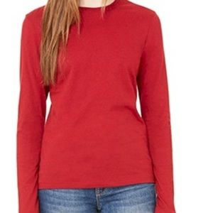 Red Bella Long Sleeve Tee Size Large New NWT